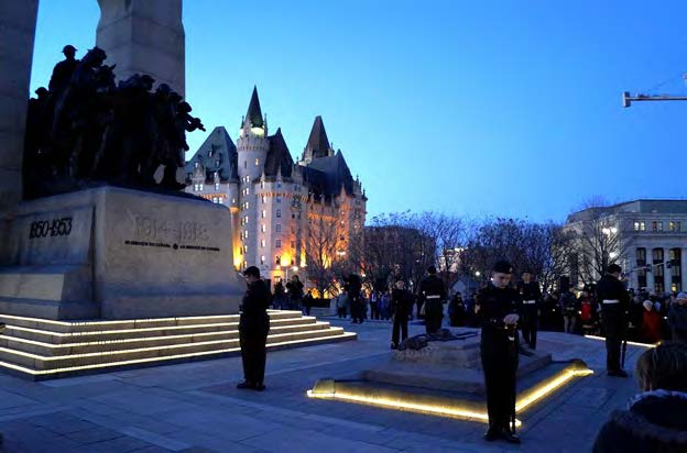 On a beautiful clear evening in Ottawa, hundreds gathered for the annual Army Cadet Battle of Vimy Commemoration candlelight ceremony at the National War Memorial on April 8, 2017.